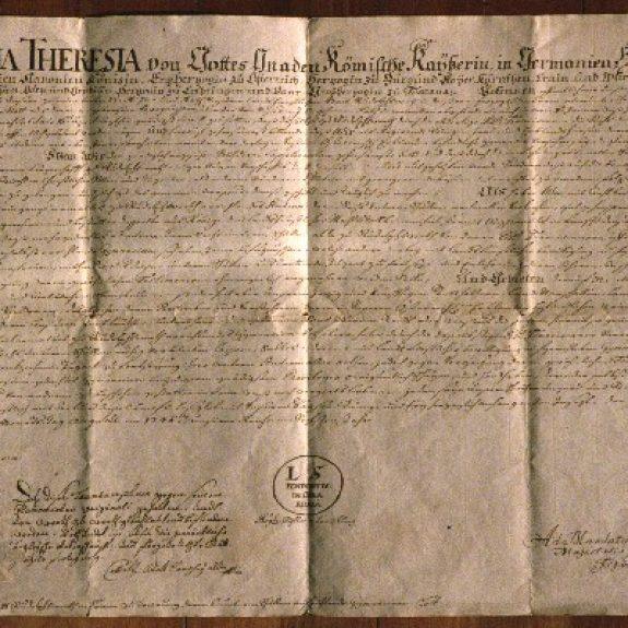 Ustanovna listina Marije Terezije