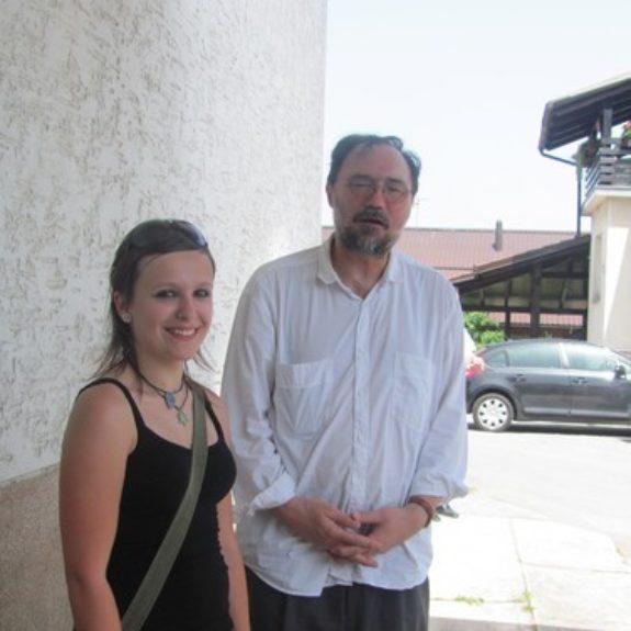 Župančičeva frulica - Lara Zupančič in Boris A. Novak, junij 2010, foto R. Č. Jurečič