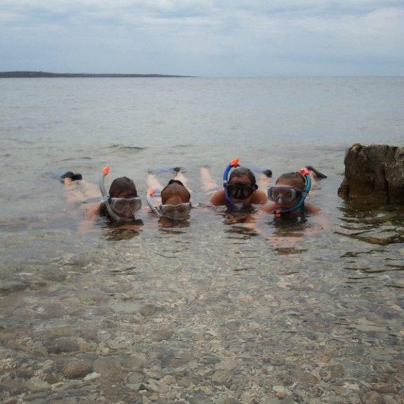 Plavalno potapljaški tečaj Nerezine, sept. 2012, foto J. Cimperman