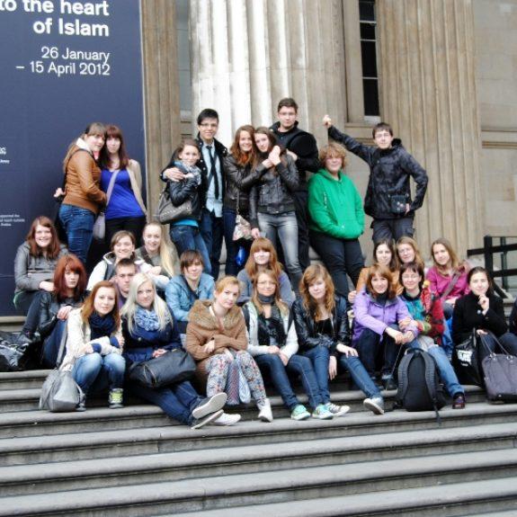 Ekskurzija v London - Pred British Museumom, marec 2012, foto U. Topić
