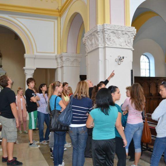 Izmenjava z Banjaluko - V cerkvi samostana trapistov, sept. 2011, foto M. Bukovec