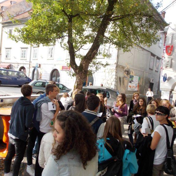 Izmenjava z Bad Radkersburgom v NM - Na Glavnem trgu, sep. 2014, foto N. Blatnik