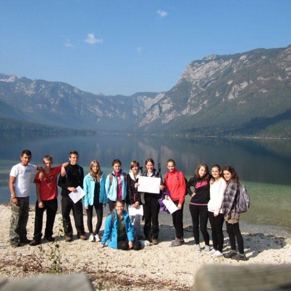 Začeli smo ob Bohinjskem jezeru