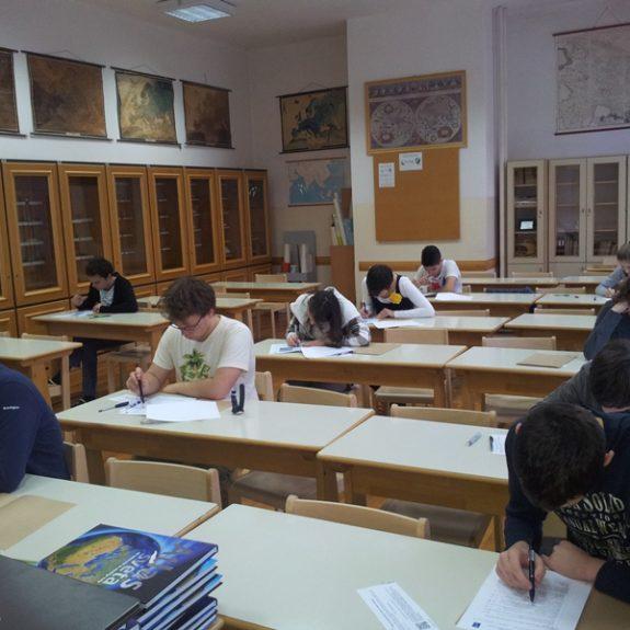 Šolsko tekmovanje iz geografije, febr. 2013, foto P. Kukec