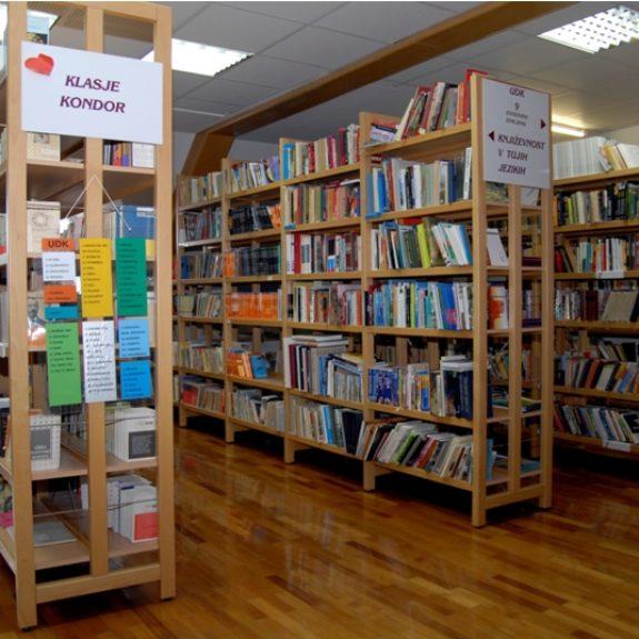 Gut ausgestattete Bibliothek, Foto M. H.