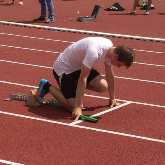 Luka Kunej na štartu štafet, foto: S. Lavrič