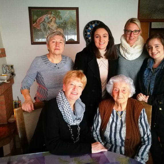 Na obisku pri Anici Gorenc, foto: OZRK