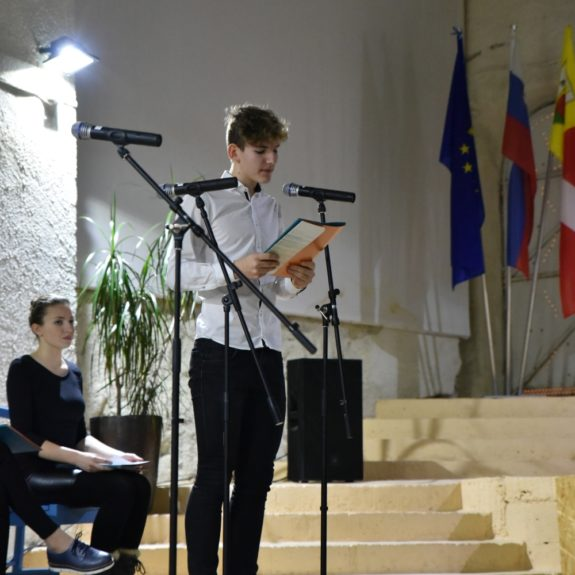 Recitator Jaka Kunej, foto: Darko Jakovac