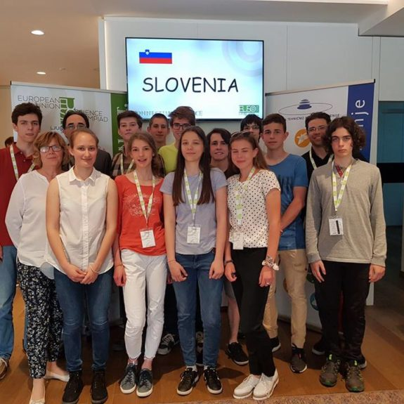 Slovenska ekipa, foto: arhiv EUSO 2018