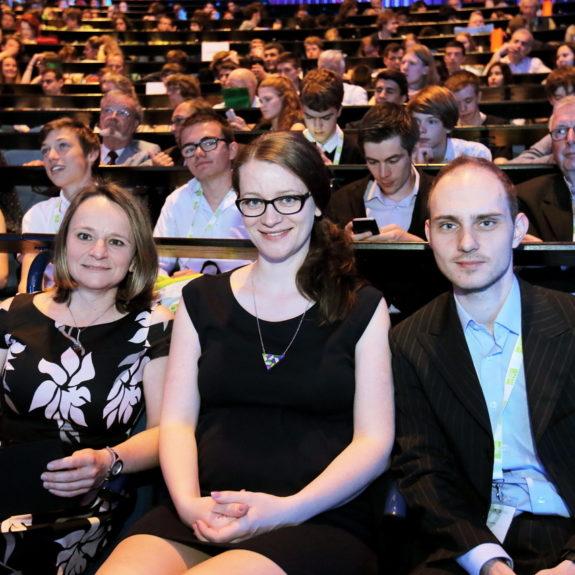 Člani organizacijskega odbora ZOTKS: mag. Katja Stopar, Anita Nose in dr. Matej Huš, foto: arhiv EUSO 2018