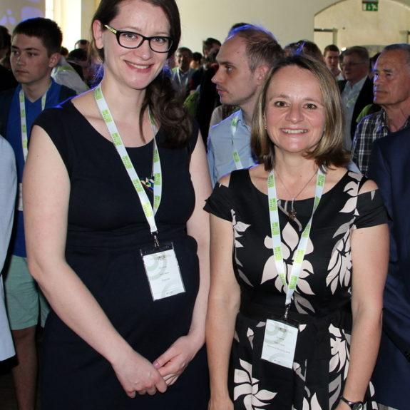 mag. Katja Stopar in Anita Nose in dr. Matej Huš, člani organizacijskega odbora ZOTKS, foto: arhiv EUSO 2018