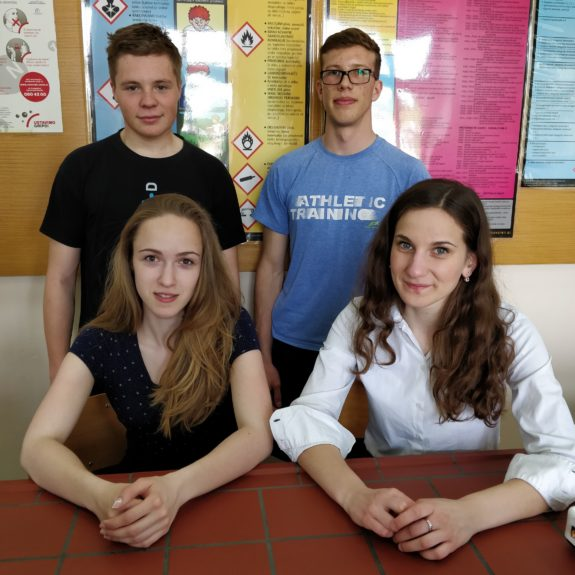 Udeleženci priprav na FKKT: Jakob Höfferle, Matevž Turk, Tanja Topić in Nastja Medle, foto: Katarina Sluga