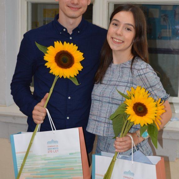 Zlata maturanta Luka Kunej in Lea Košmrlj, foto: Tatjana Durmič