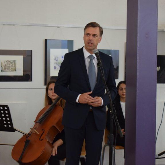 Nagovor mag. Gregorja Macedonija, župana MO Novo Mesto, foto: Jana Prijatelj