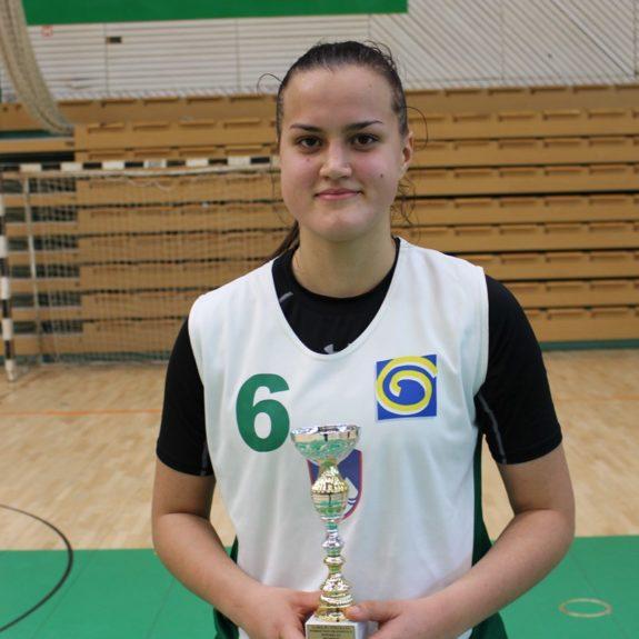 Uma Bobić, najboljša strelka turnirja in športnica meseca novembra, foto: Agencija za šport
