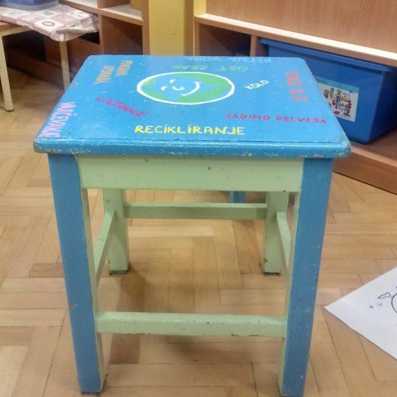 Končni izdelek: Moder stol, foto: Maja Hren