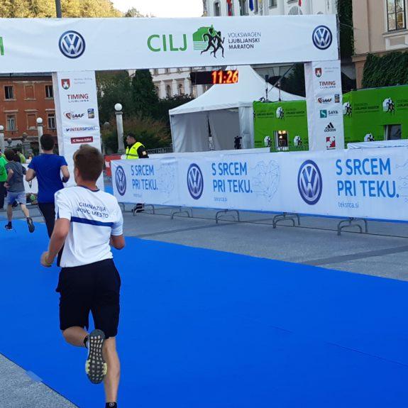 Ljubljanski maraton: Smo že v cilju, foto: Ivan Maričič