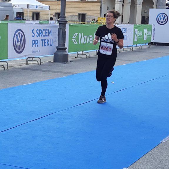 Ljubljanski maraton: V cilju, foto: Ivan Maričič