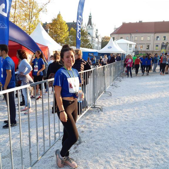 Ljubljanski maraton: Zadovoljna na cilju, foto: Ivan Maričič