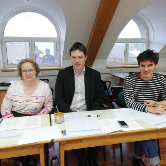 Član komisije je bil tudi dr. Philipp Reisner, koordinator tekmovanja v Sloveniji; foto: Elsa Louis