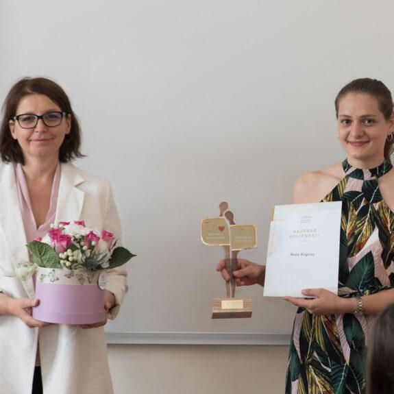 Podelitev priznanj in priznanj z nagrado za šolsko leto 2019/20, foto: Miha Hadl