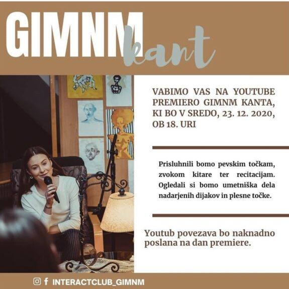 Prireditev GimNm kant v organizaciji Interacta, foto: arhiv Gimnazije Novo mesto