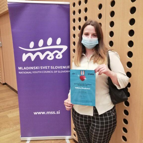 Naj prostovoljka MSS Viktoria Krusharova, foto: GimNm