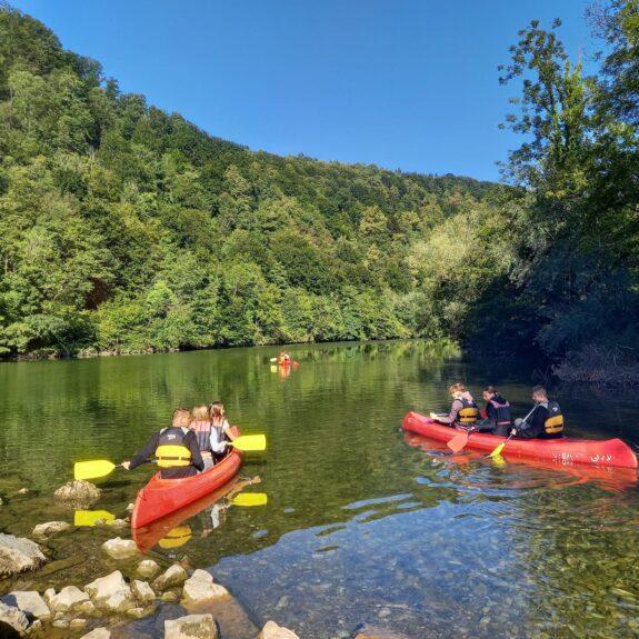 S kanuji po Kolpi, foto: Urška Longar