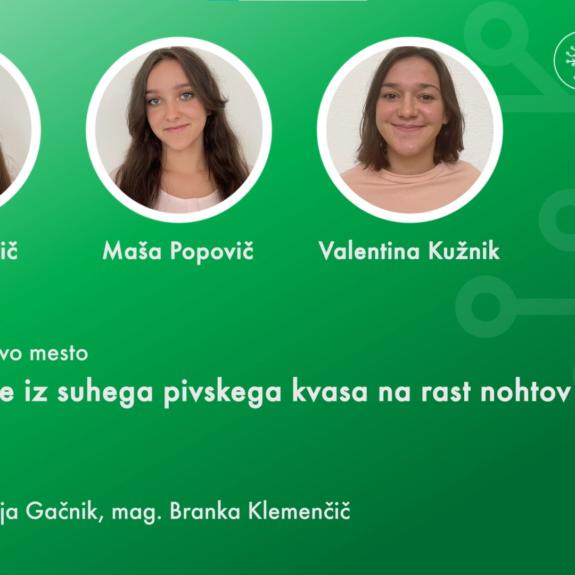 Prejemnice priznanja Daša, Maša in Valentina, foto: posnetek zaslona s  spletne podelitve Krkinih nagrad, Krka, d. d.