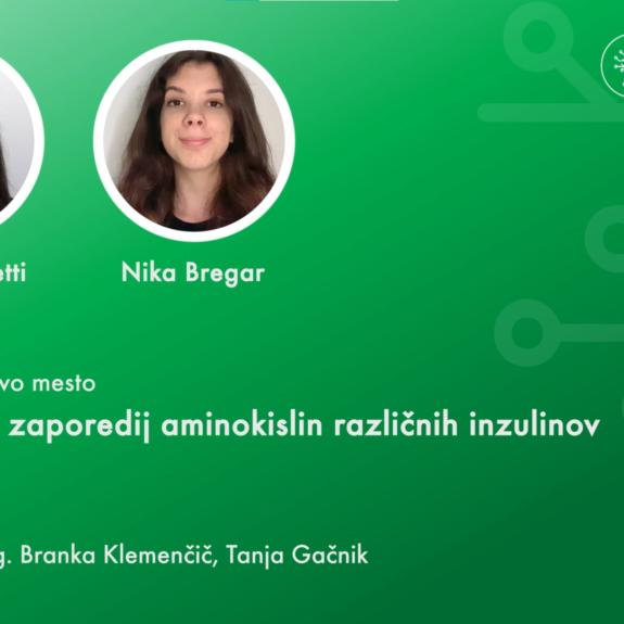 Prejemnici priznanja Polona in Nika, foto: posnetek zaslona s  spletne podelitve Krkinih nagrad, Krka, d. d.
